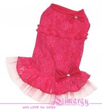 Платье 'Mesh' розовое