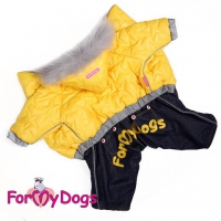 "Комбинезон ""Куртка и джинсы"" желтый и красный"
