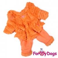 Комбинезон-шубка оранжевый