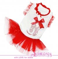 """Нарядное платье """"Balet"""" красное"""