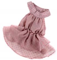 """Платье """"Бусины"""" серо-розовое"""