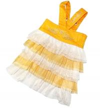 """Джинсовое платье """"Fly"""" желтое"""