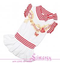 """Платье """"Sea-girl"""" белое с розовым"""