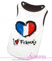 Маечка 'France' белая